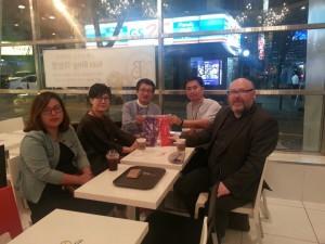 Dean Paul Mooney with members of TOPIK foundation in Seoul