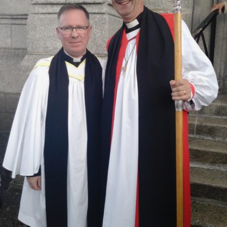 The Bishop with The Reverend David White, new Rector of Carlow Union of Parishes