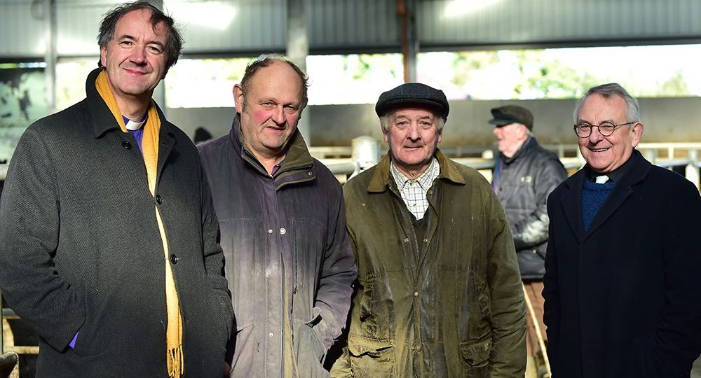 bishop-ml-burrows-with-david-hendy-alfie-treacy-canon-peter-tarleton-at-carlow-mart-1024x762