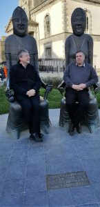 CMN conf - Martyn Payne (BRF) and Aled Davies visit Waterford and sit in the seats of Strongbow and Aoife