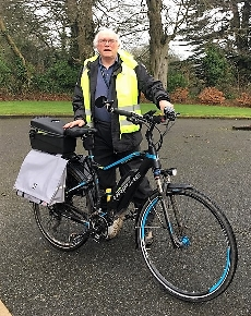 Pedalling for the Organ – one-man cycling fund-raiser in Enniscorthy
