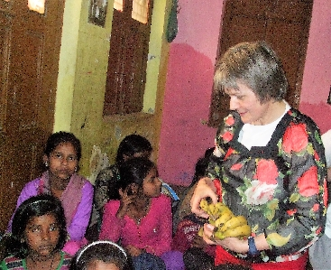Valerie Power in India - school (small)