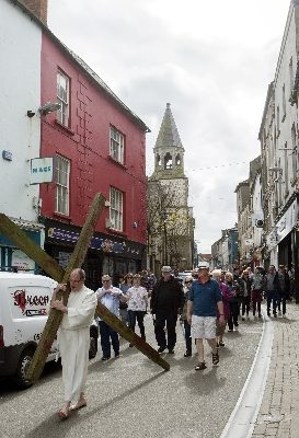 Cross carried through Wexford town
