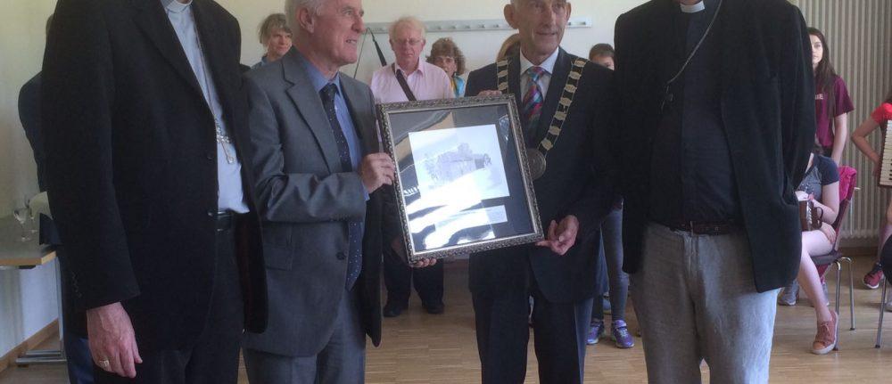 Leighlin Pilgrimage to Echternach – presentation to Irish Ambassador to Luxembourg