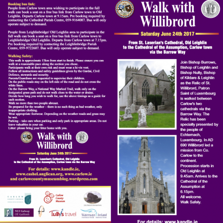 WALK WITH WILLIBRORD –  24TH JUNE
