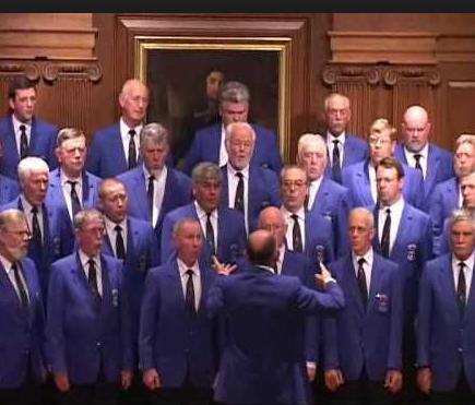 Dublin Welsh Male Void Choir perform in Fenagh