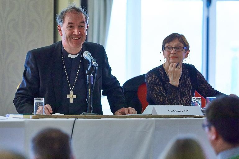 Bishop at top table - Diocesan Synod 2017
