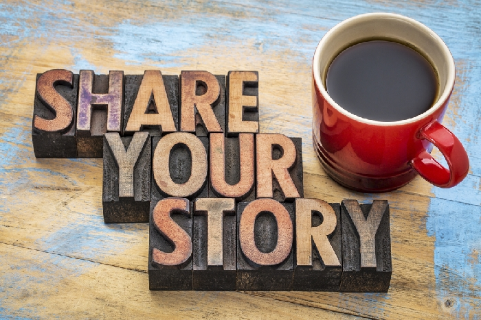 Writing- share your story - Shutterstock image
