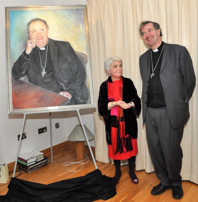 Portrait - Main image resized - Bishop Burrows with Arttist Olivia Bartlett at unveiling