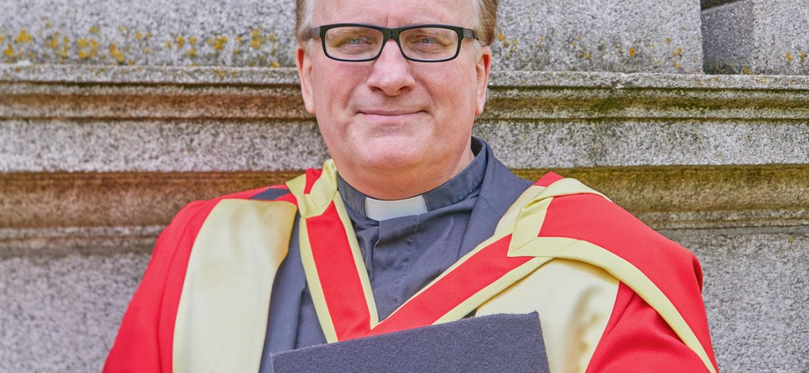 The Reverend Dr David Compton after his conferring on June 21st