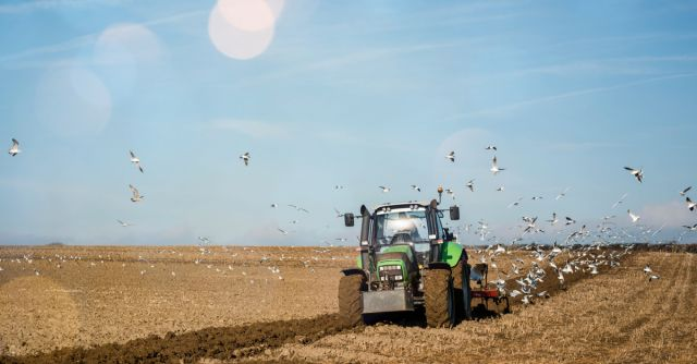 Tractor ploughing - Shutterstock image