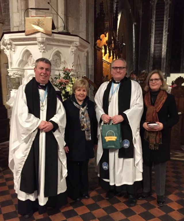 Farewell service in St Canice's for The Reverend Dr David Compton