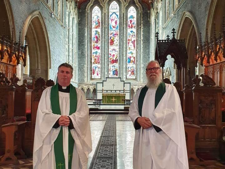 Dean David McDonnell with the new Bishop's Vicar The Reverend Dr Richard Marsh