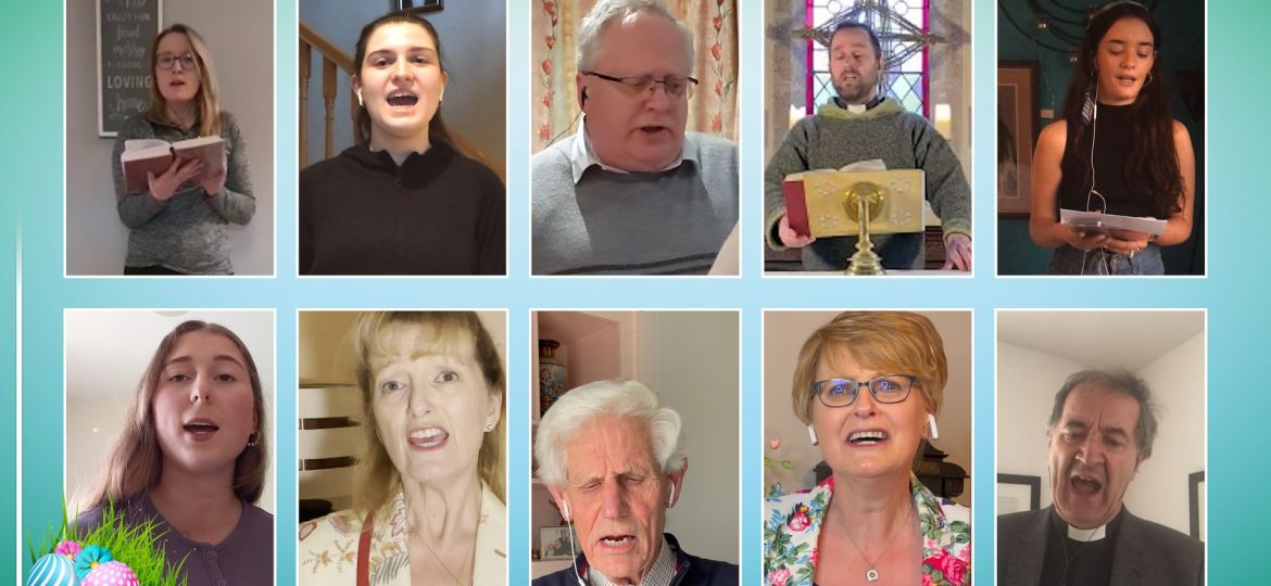 Sing Out for Easter video still - goes live at 9 a.m. on Saturday, 3rd April 2021